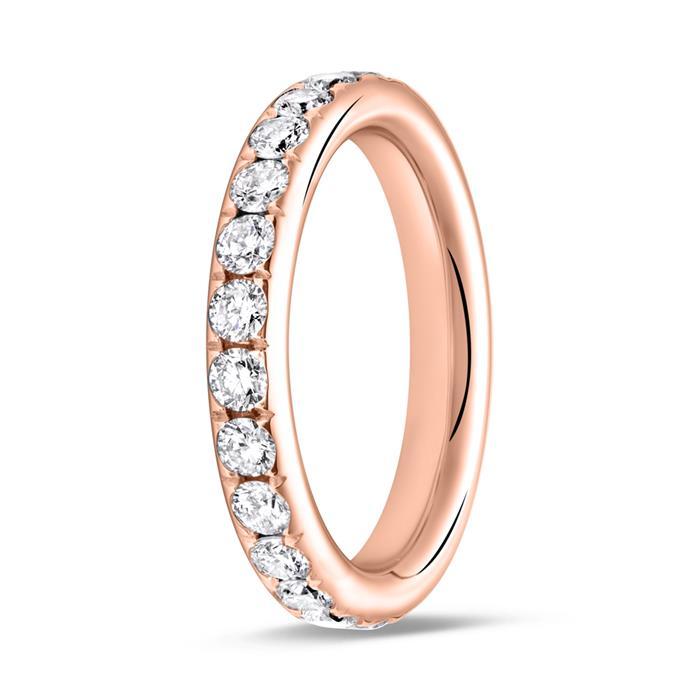 Eternity Ring 750er Roségold 25 Diamanten