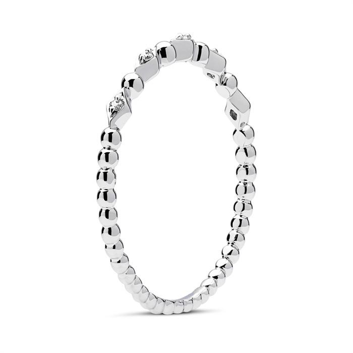 Ring Weißgold 18K 5 Diamanten