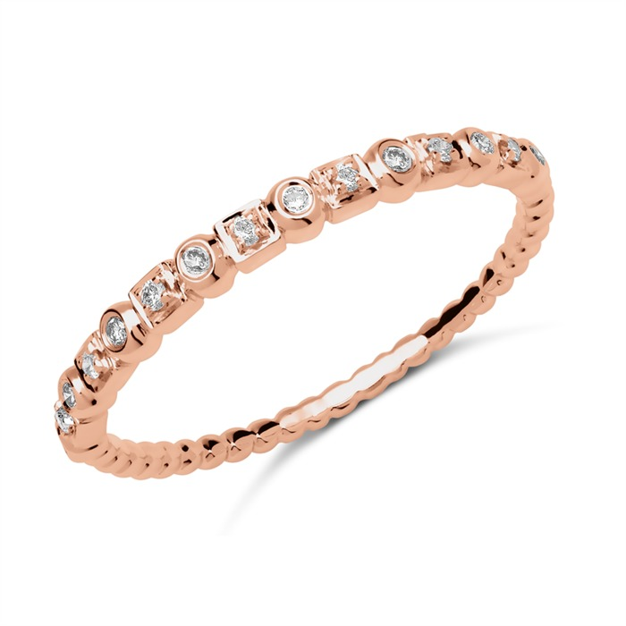 Ring 750er Roségold 15 Diamanten