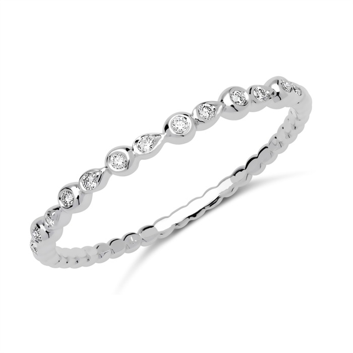 Ring 18K Weißgold 13 Diamanten