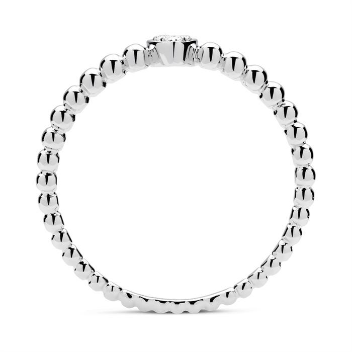 Herz Ring 750er Weißgold 3 Diamanten