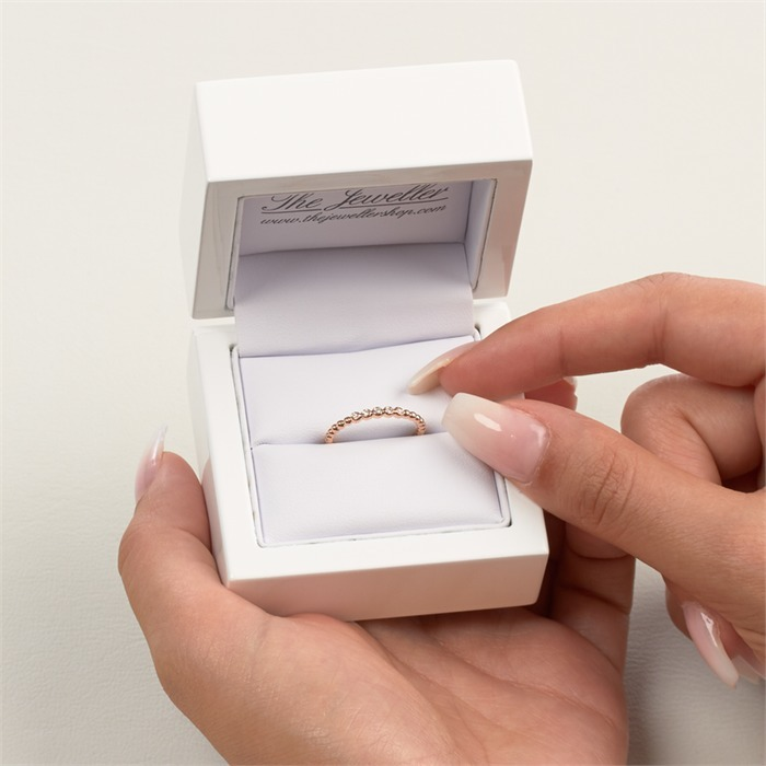 750er Roségold Memoire Ring 5 Diamanten