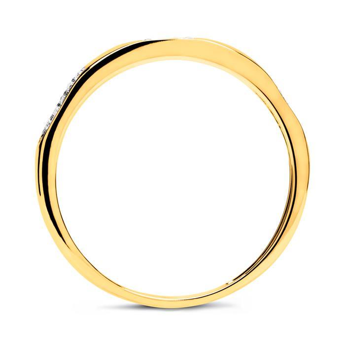Ring 585er Gold mit 30 Brillanten