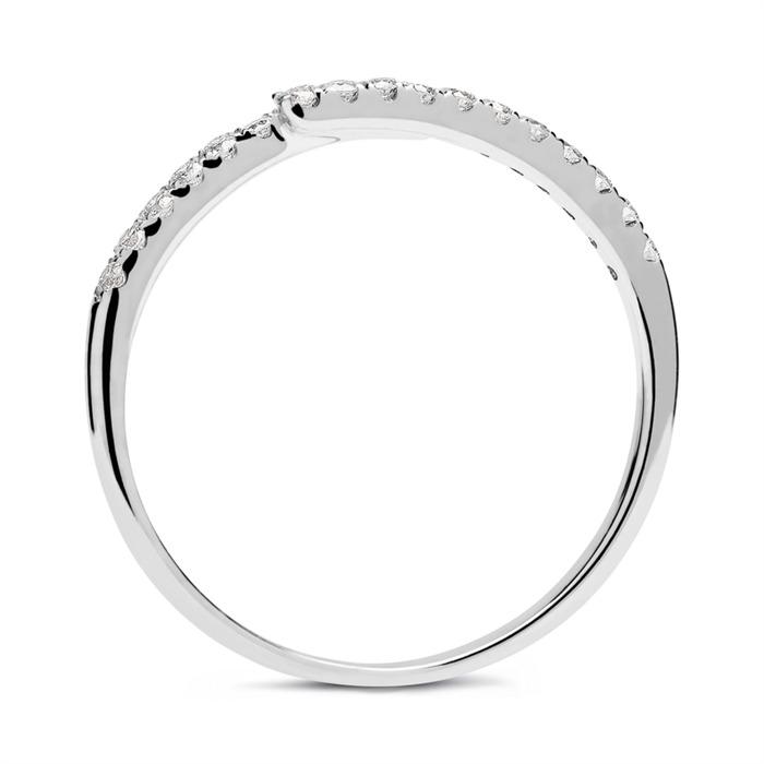 Ring 585er Weißgold mit 21 Brillanten