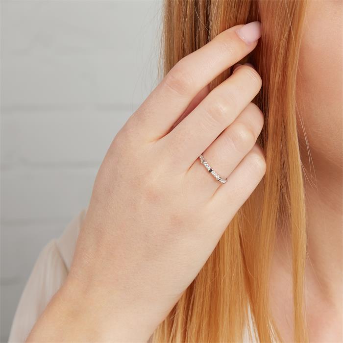 Ring 14K Weißgold mit 13 Brillanten
