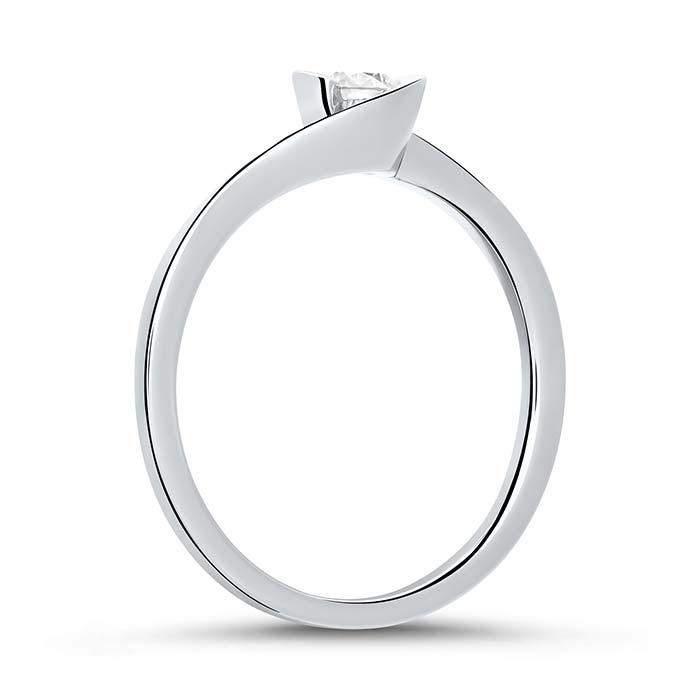 Verlobungsring aus 14K Weißgold mit Diamant