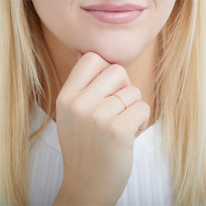 Ring aus 585er Gold mit Weißtopas
