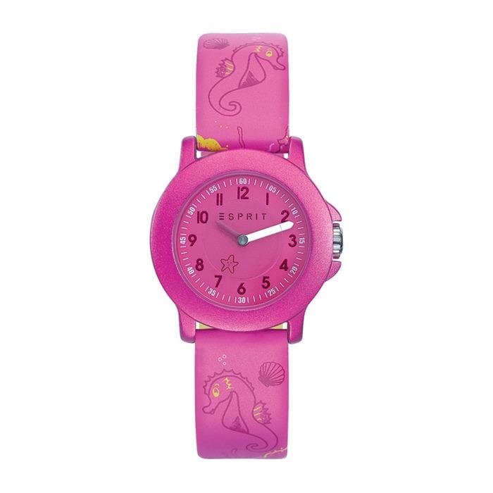 Kinderuhr ES-Seepferdchen pink