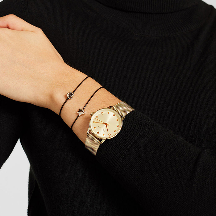 Set of watch and two bracelets for ladies