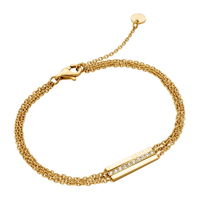 Armband Luna Edelstahl vergoldet mit Zirkonia
