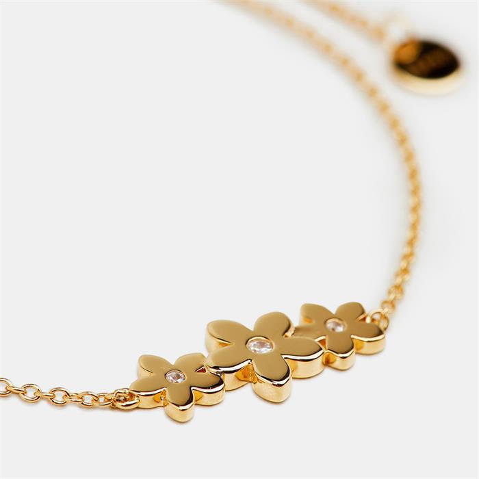 Armband Blüten für Damen aus 925er Silber, gold