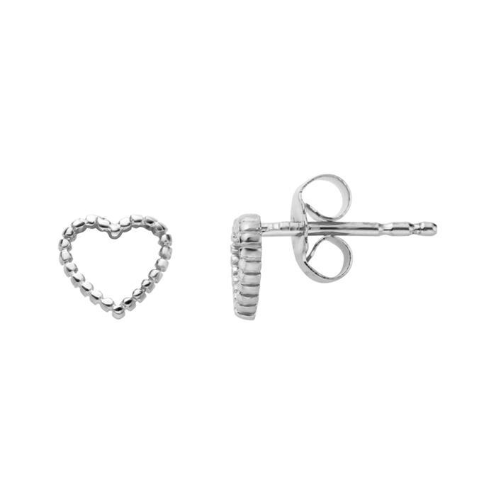 925er Silber Ohrstecker Herz für Damen