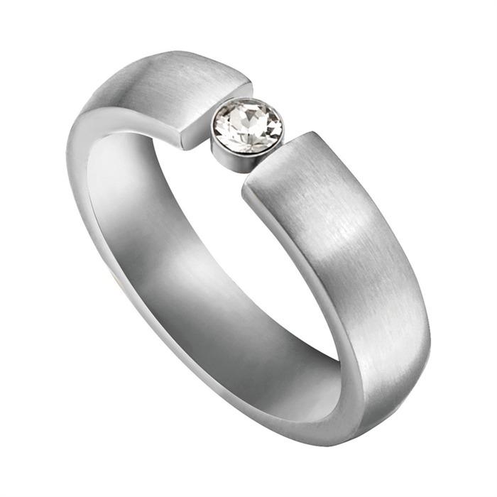 Ring Laurel aus Edelstahl gravierbar