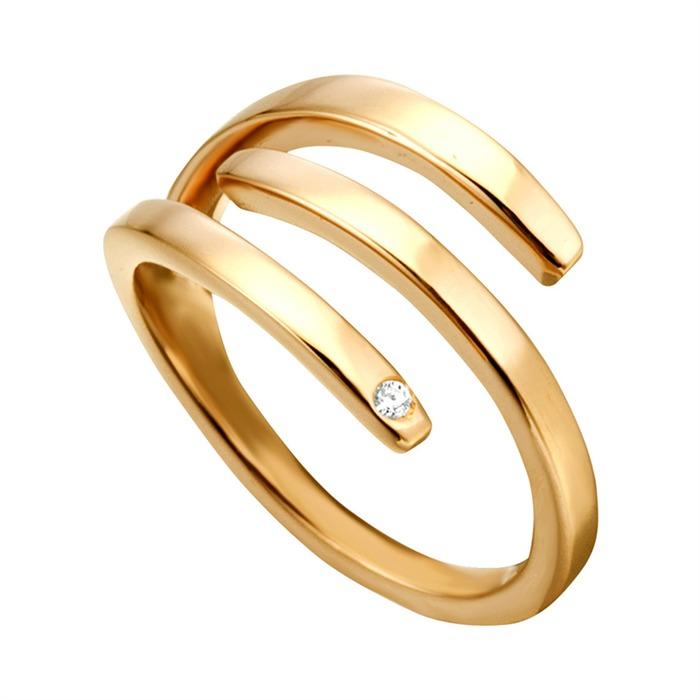 Ring Iva aus vergoldetem 925er Silbe