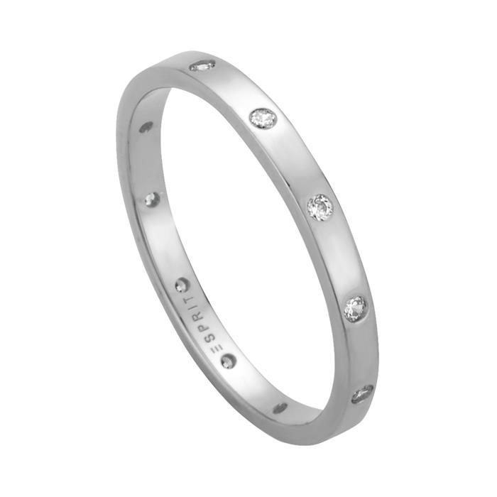 925er Silberring für Damen mit Zirkonia