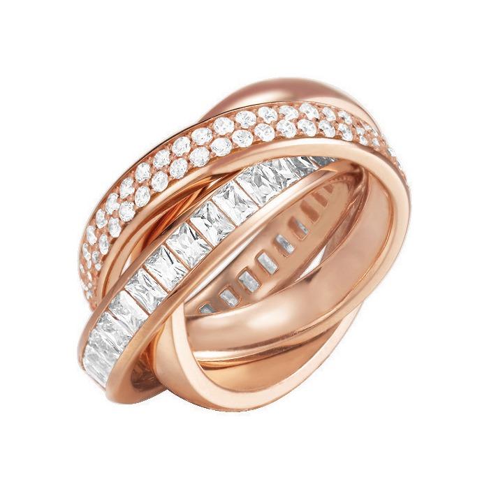 Extravaganter Ring ES-Tridelia Rose