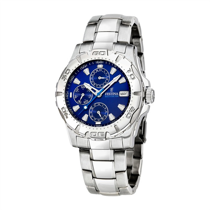 Herrenuhr Multifunktion Sport blau