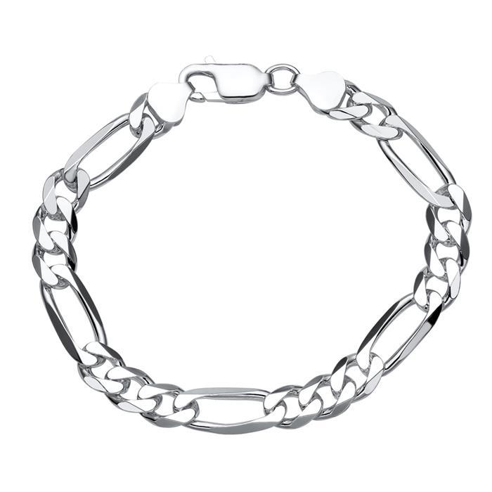 925 Silberarmband: Figaroarmband Silber 8mm