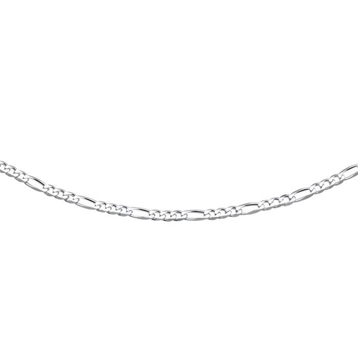 925 Silberkette: Figarokette Silber 3,5mm