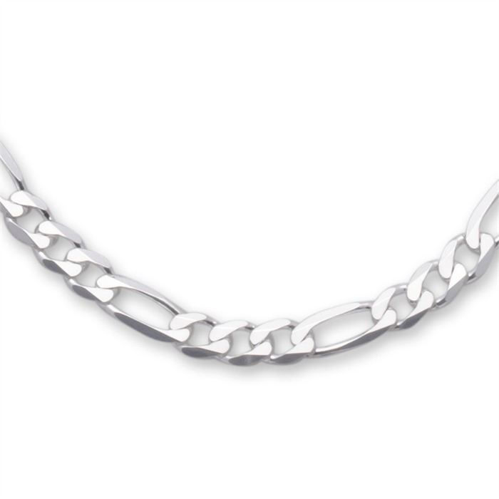 925 Silberkette: Figarokette Silber 8mm