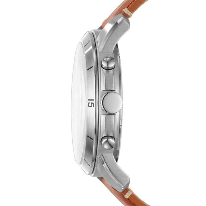 Herren Chronograph Grant Sport Fossil Leder FS5343