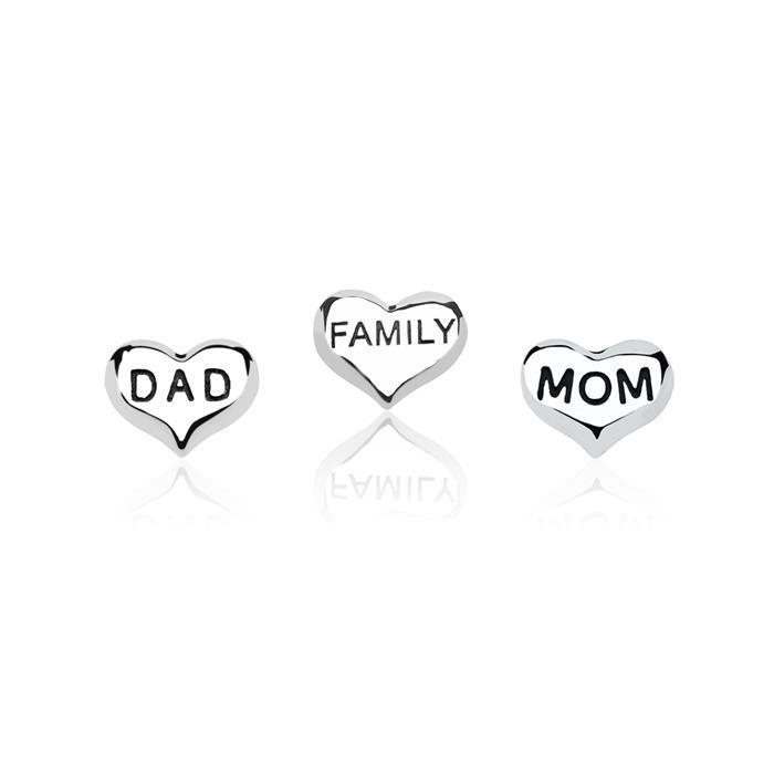 Charm Floating Set Mom & Dad 925er Silber