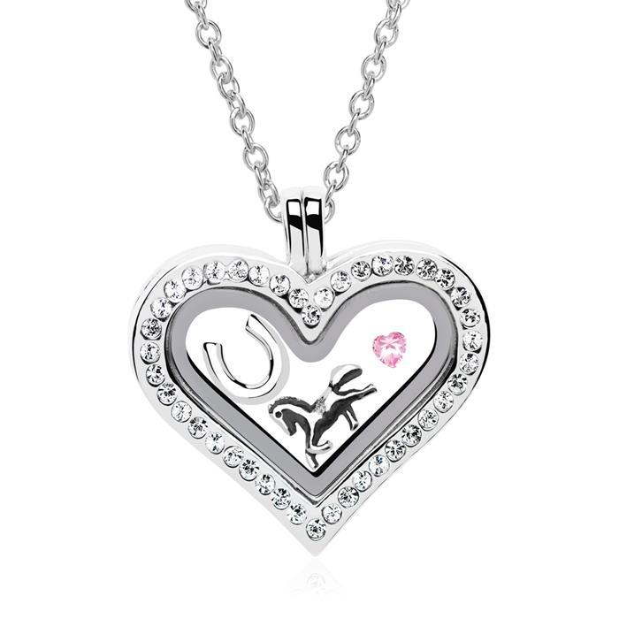 Medaillon Charms Set 925er Silber