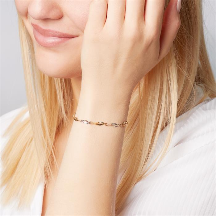 Armband aus 333er Gold Bicolor