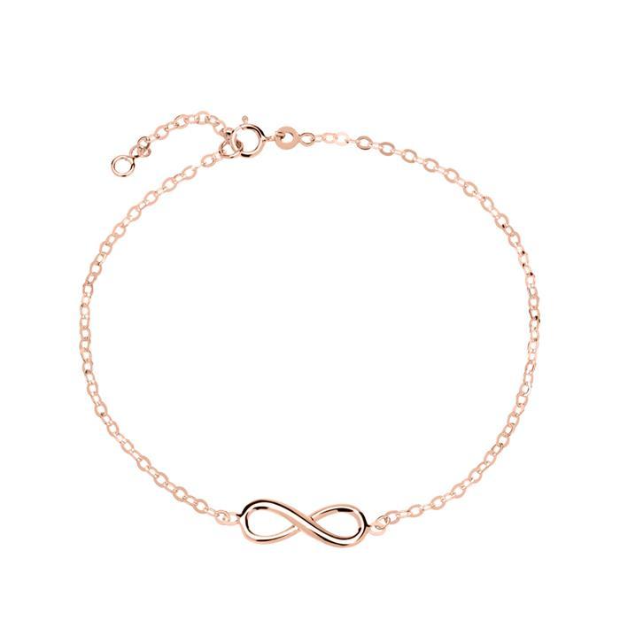 Damenarmband Infinity aus 585er Roségold