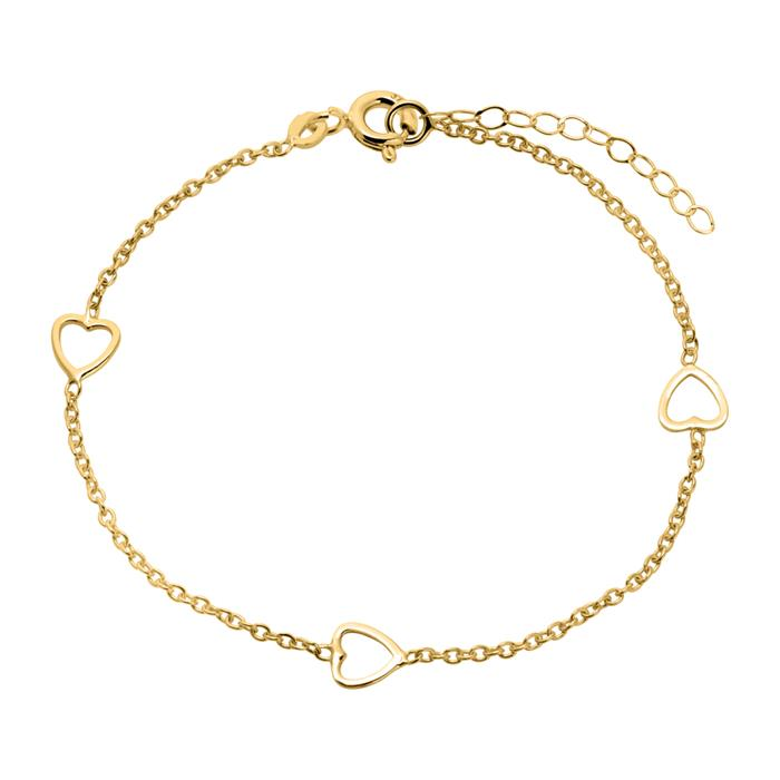 375 Gold Bracelet With Hearts