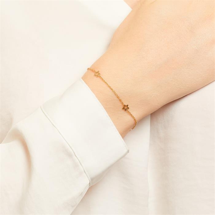 375er Gold Armband mit Sternen