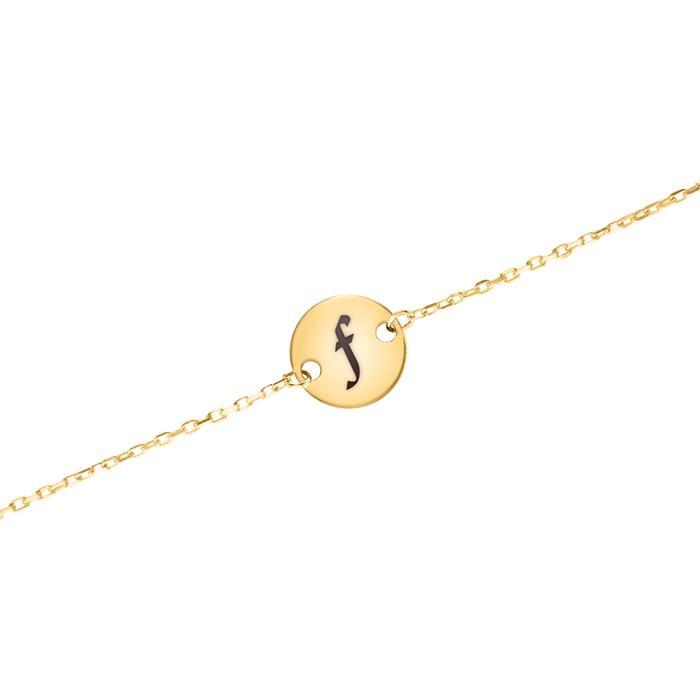 Gravierbares Kreisarmband für Damen aus 9K Gold