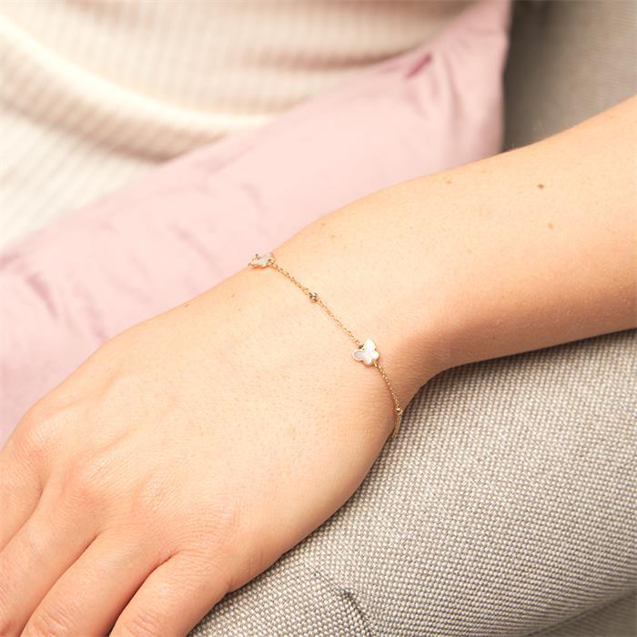 Schmetterlingsarmband für Damen aus 585er Gold