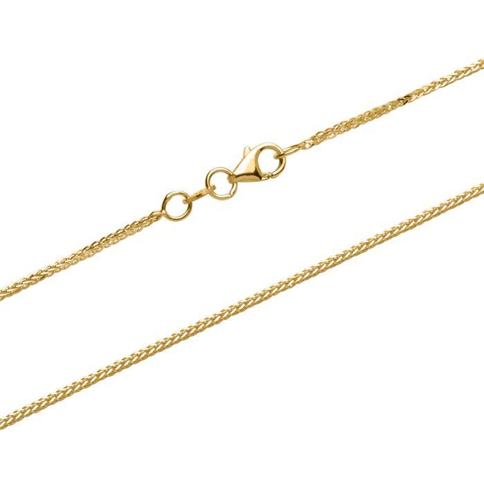 Fuchsschwanz-Kette aus 375er Gold