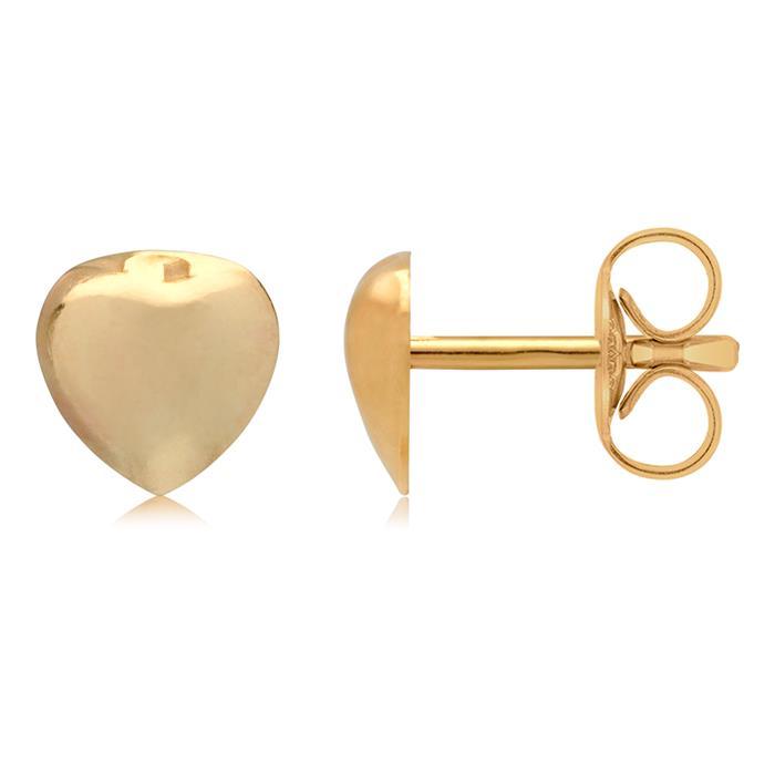 Ohrschmuck im Herz-Design aus 375er Gold