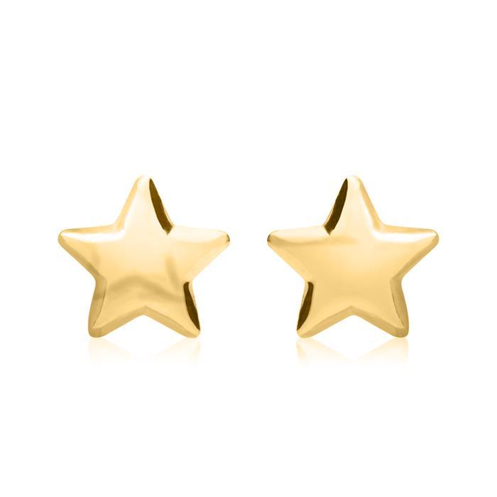 Ohrstecker im Stern-Design aus 375er Gold