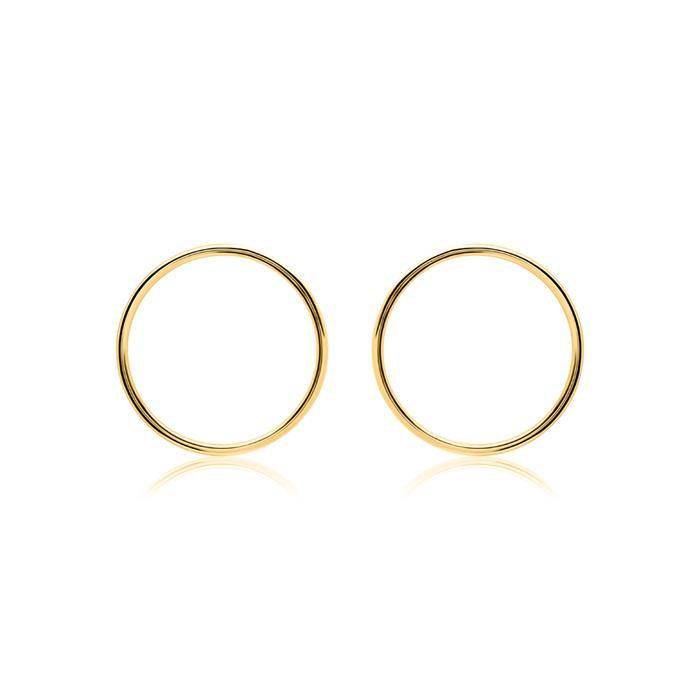 Kreis-Ohrstecker für Damen aus 375er Gold