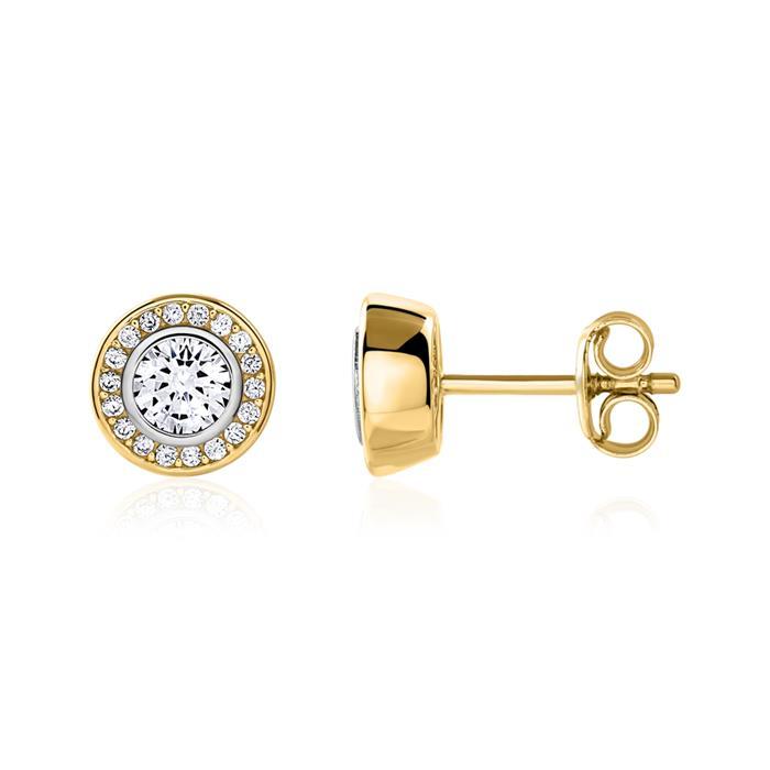 Ohrstecker für Damen aus 9K Gold mit Zirkonia