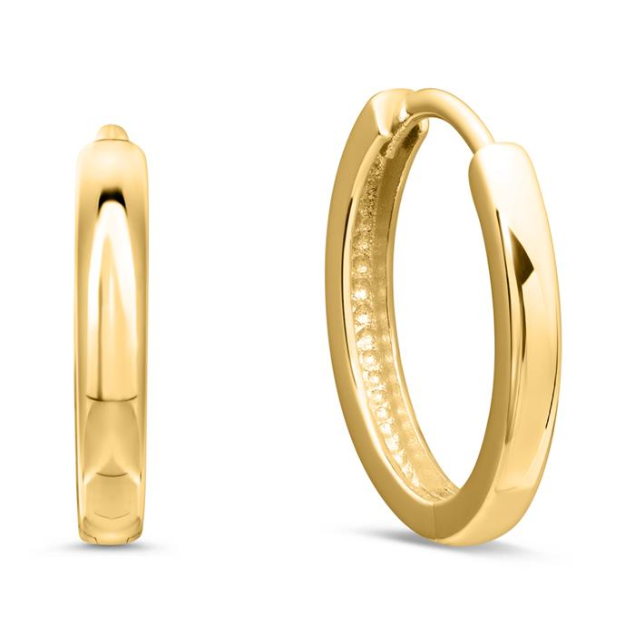 Damen Creolen aus 375er Gold