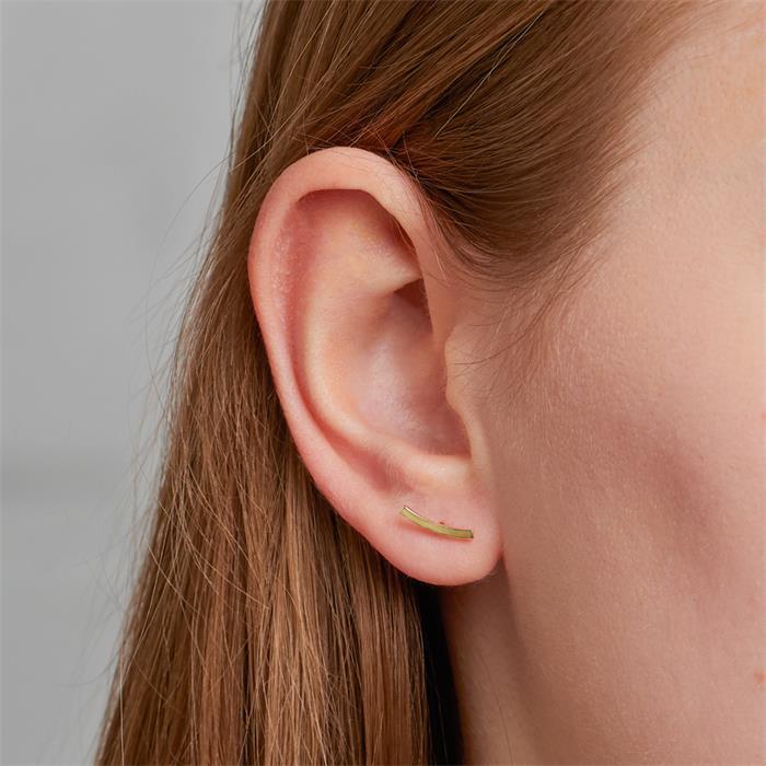 Ohrstecker für Damen aus 375er Gold