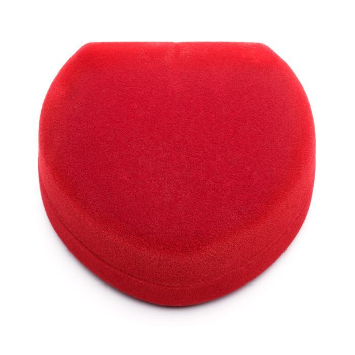Schmucketui aus rotem Samt