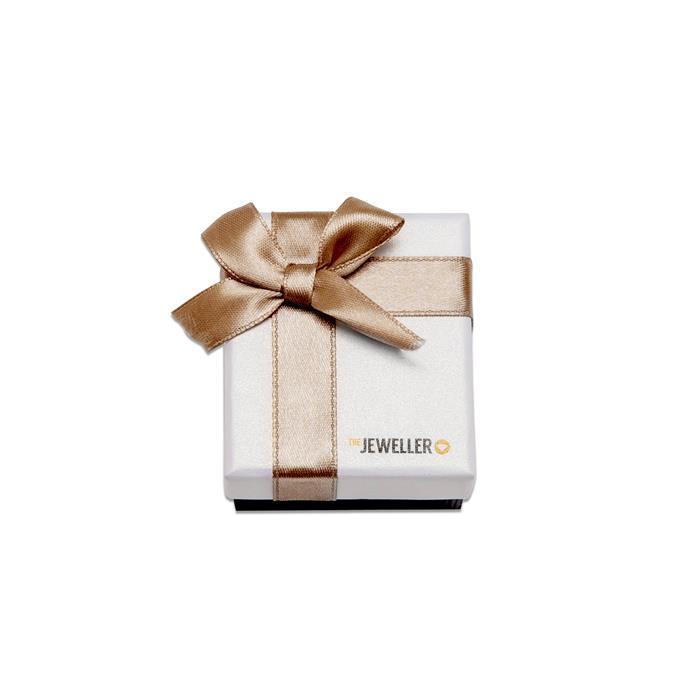 Etui für einen Ring mit beiger Geschenkschleife