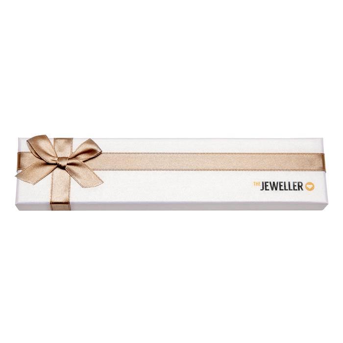 Geschenketui für Armbänder mit beiger Schleife