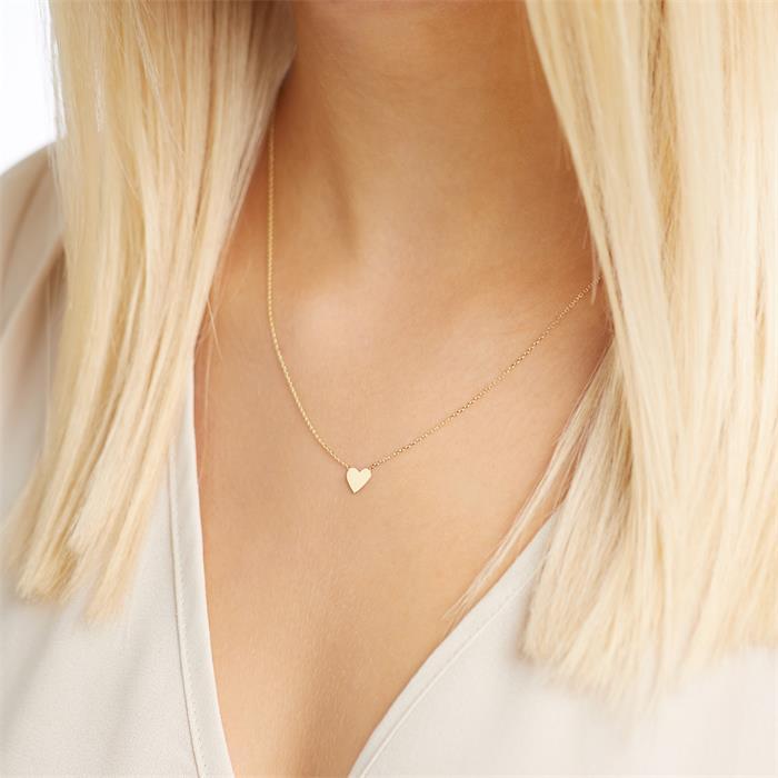 Kette Herz für Damen aus 9K Gold, gravierbar