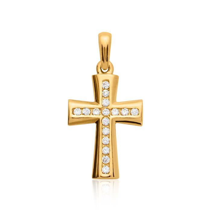 333er Gelbgold Kreuzkette mit Anhänger