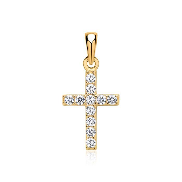 333er Gelbgoldkette mit Kreuzanhänger