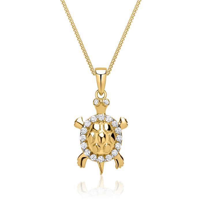 333er Goldkette mit Schildkröten Anhänger