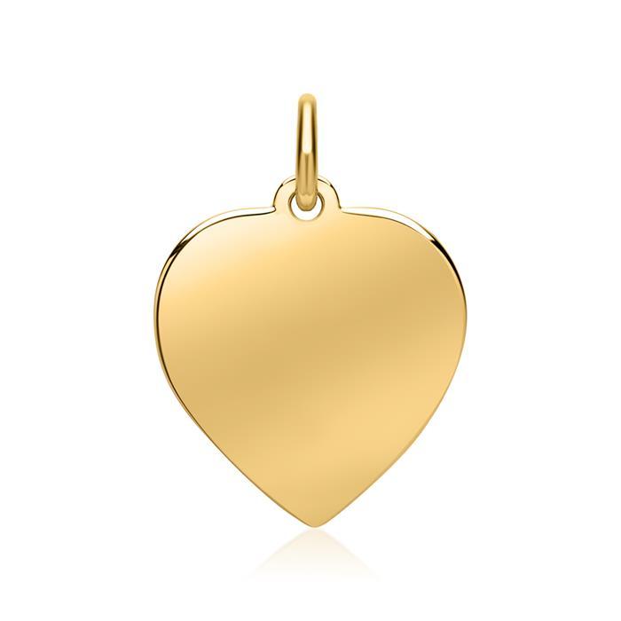 Polierter Herz-Anhänger 585er Gold