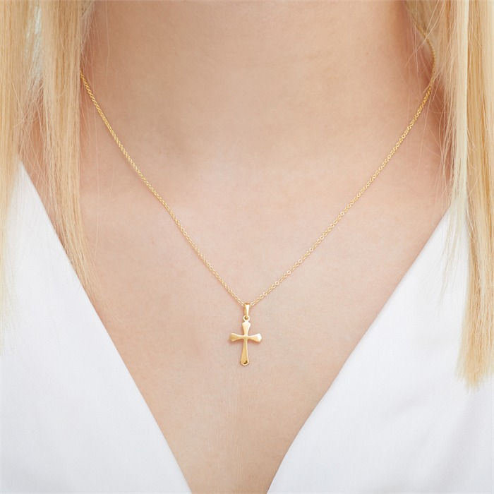 333er Goldkette mit Kreuzanhänger