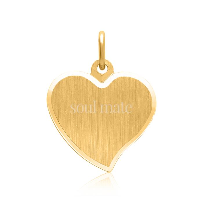 585er Goldkette mit Herzanhänger gravierbar